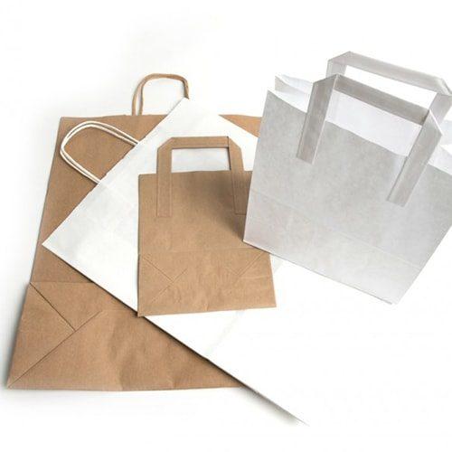 Kraft Bags / Paper Tape & Top Twist Handles