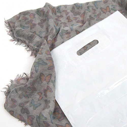 White Poly Varigauge Carrier Bags